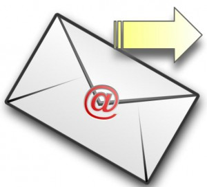 Envelope with ampersand and arrow