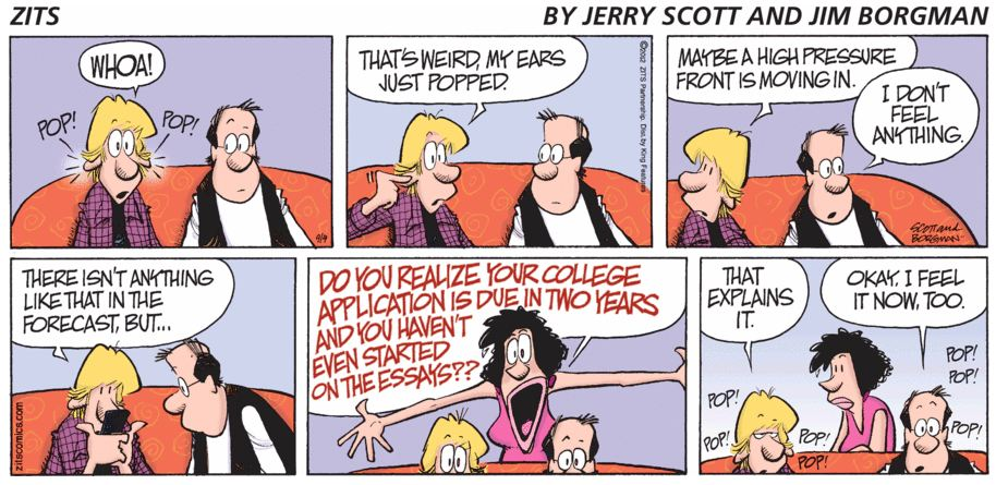 comic strip about college application essays - Writing The College Application Essay