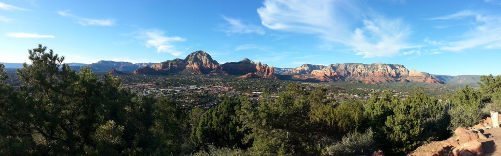 View of Sedona from airport