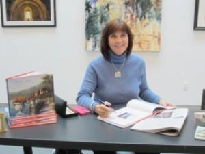 Pat at a book signing